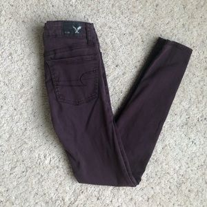 American eagle color jeans.